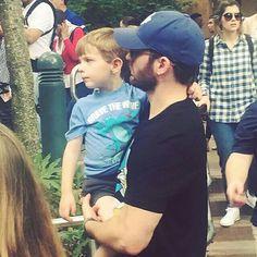 Chris with his nephew in Disneyworld!