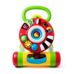Mon premier est un chariot de marche qui aidera votre bébé dans ses premiers pas. Mon second est une table d'activités sonores et lumineuses regorgeant de trésors à découvrir : engrenages, boutons pour apprendre à pousser et tirer, circuit de balles en plastique. Mon tout est un chariot astucieux qui accompagnera votre bébé de 9 mois à 2 ans : une superbe idée de cadeau !