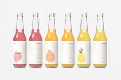 Beautiful brand identity and packaging for Wake, a caffeinated drink from Germany, created by Fagerström in Madrid. Juice Branding, Juice Packaging, Beverage Packaging, Bottle Packaging, Brand Packaging, Design Packaging, Water Packaging, Dessert Packaging, Simple Packaging