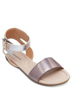 Double-Strap Flat Sandals