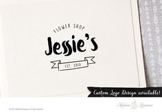 SALE Premade logo design hand drawn logo boutique by thepariswife