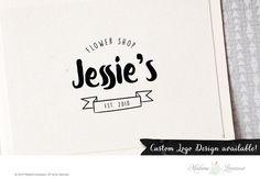 SALE Premade logo design hand drawn logo boutique logo vintage logo artisan logo website