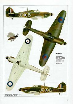 Hawker Hurricane I Blender 3d, Ww2 Aircraft, Military Aircraft, Military Art, Military History, Hawker Hurricane, British Armed Forces, Aircraft Painting, Ww2 Planes