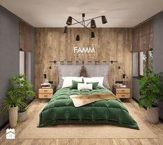 LOFT LOVE - Mała średnia sypialnia małżeńska, styl eklektyczny - zdjęcie od FAMM DESIGN