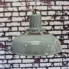 Vintage Industrial Benjamin Enamel Factory Pendant Ceiling Light Lamp Shade Big | eBay Vintage Industrial, Lamp Light, Decorative Bells, Ceiling Lights, Lighting, Pendant, Enamel, Home Decor, Vitreous Enamel
