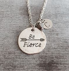 Be Fierce Bow and Arrow Silver Plated Necklace Arrow by SAjolie