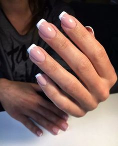 French Manicure Acrylic Nails, French Tip Nails, Best Acrylic Nails, Short French Nails, French Manicures, Gel Nail, French Tip Nail Designs, Acrylic Nail Designs, Feet Nails