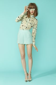 Chic, shorts color menta