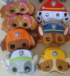 Infantil: Patrulha Canina (as Crianças Amam! Paw Patrol Masks, Paw Patrol Party, Paw Patrol Birthday, Paw Patrol Costume, Twin Birthday, 3rd Birthday Parties, Birthday Fun, Cumple Paw Patrol, Ideas
