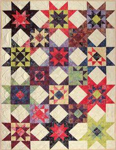 My Stars batik quilt - Hoffman