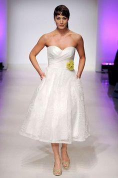 Tea Length Wedding Dress, Short, Designer Gowns    Colin Cowie Weddings