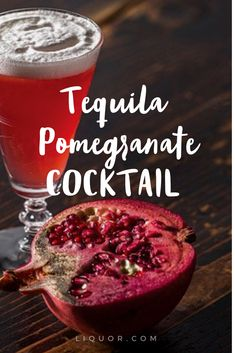 Winter calls for #pomegranate #cocktails! Enjoy this tasty drink while your favorite fruit is in season. #tequiladrinks