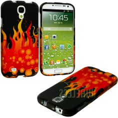 """myLife (TM) Red + Yellow Fire Series (2 Piece Snap On) Hardshell Plates Case for the Samsung Galaxy S4 """"Fits Models: I9500, I9505, SPH-L720, Galaxy S IV, SGH-I337, SCH-I545, SGH-M919, SCH-R970 and Galaxy S4 LTE-A Touch Phone"""" (Clip Fitted Front and Back Solid Cover Case + Rubberized Tough Armor Skin + Lifetime Warranty + Sealed Inside myLife Authorized Packaging) """"ADDITIONAL DETAILS: This two piece clip together case has a gloss surface and smooth texture that maximizes the s"""