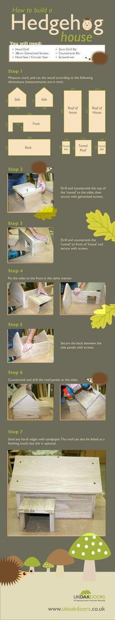 ♥ Pet Hedgehog ♥ How to Build a Wood Hedgehog House   DIY for Life