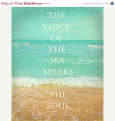 Beach Quote Art by SevenElevenStudios Beach House Decor, Sea Quotes, Beach Love Quotes, Summer Quotes, I Love The Beach, Beach Quotes And Sayings Inspiration, Seaside Quotes, Quotes About The Ocean, Quotes About Waves