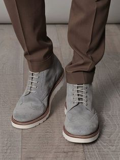Cosmetic Evolution.  gray men shoes