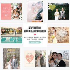 Photo Thank You Cards - Available as Postcards & Folded Cards :)  www.lovevsdesign.com