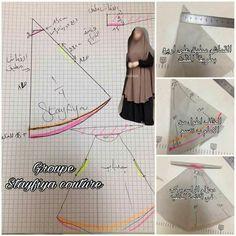 Hijab Fashion 2016, Muslim Women Fashion, Abaya Fashion, Dress Sewing Patterns, Clothing Patterns, Abaya Pattern, Instant Hijab, Bridal Hijab, Hijab Bride