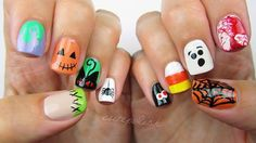 NEW VIDEO! It's finally here -- the Ultimate Guide to Halloween Nail Art #2!  Thanks so much for requesting this you guys... I had a lot of fun making it for you  Link in bio! QOTD: Which of these 10 designs is your favorite?!