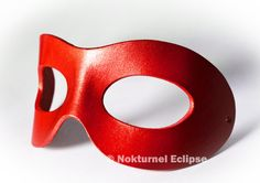Red Superhero Leather Mask Mardi Gras Masquerade Party Halloween Comic Con DragonCon Costume Unisex AVAILABLE In ANY COLOR by NokturnelEclipse on Etsy