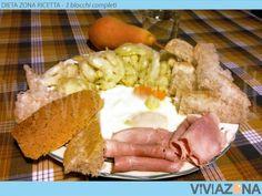 Frittata bianca, prosciutto cotto e cavolfiori