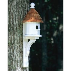 Flush Mount Architectural Birdhouse in Vinyl/PVC Architectural Vinyl Birdhouse with Flush-Mount Decorative Bracket Bird House Plans, Bird House Kits, Bird House Feeder, Bird Feeders, Decorative Brackets, Birdhouse Designs, Unique Birdhouses, Birdhouse Ideas, Bird Aviary