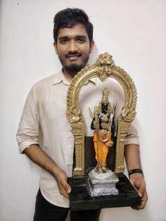 Ganesh Statue, Decoration For Ganpati, Lord Murugan, Unique Facts, Tanjore Painting, Pooja Rooms, Sacred Feminine, Hindu Deities, God Pictures