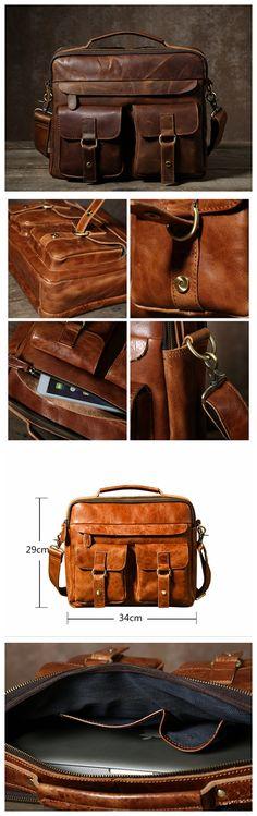 Handmade Leather Messenger Bag, Men's Handbag Laptop Bag, Leather Shoulder Bag GLT005 Handmade Leather, Vintage Leather, Leather Craft, Leather Men, Leather Laptop Bag, Leather Briefcase, Leather Shoulder Bag, Handbags For Men, Popular Bags