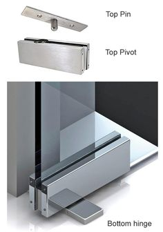Frameless glass doors opening both ways | Glaswerk