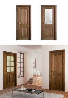 Puerta de Interior Oscura | Modelo MELODÍA de la Serie Carpintera de Puertas Castalla. Puerta de Madera Oscura