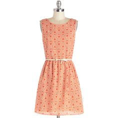 ModCloth Mid-length Sleeveless A-line Tri It On Dress ($53) ❤ liked on Polyvore featuring dresses, robes, day dresses, orange, women's clothing, orange dress, sleeveless cocktail dress, orange cocktail dress, slip dress and holiday dresses