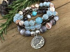Sun Dog Horizon / Gemstone Bracelets/ Beadwork Bracelets/