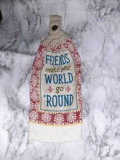 Crochet Kitchen Towels, Crochet Towel, Colorful Kitchen Decor, Kitchen Colors, Hanging Towels, Kitchen Tops, Double Crochet, Tea Towels, My Etsy Shop