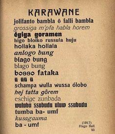 CABARET  VOLTAIRE  |  HUGO BALL  |   KARAWANE  |    #HugoBall reciting the Dadaist poem Karawane