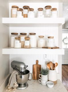 Minimalist Pantry Labels Personalization Available Durable Water & Oil Resistant Square or Round fits Mason Jars Kitchen Küchen Design, Home Design, Label Design, Design Ideas, Design Table, Design Layouts, Smart Design, Home Decor Kitchen, Home Kitchens