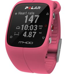 Polar M400 GPS Powered Fitness Watch Pink – HeartRateMonitorsUSA.com