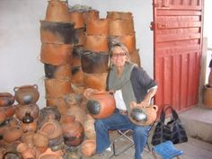 Allison with Peruvian pottery Living In Peru, Pottery, Painting, Image, Art, Ceramica, Art Background, Pottery Pots, Painting Art