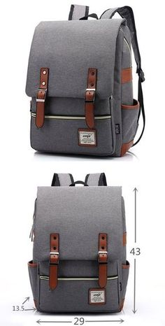 3a79cfb428 Vintage Travel Backpack Leisure Canvas With Leather Backpack School Bag  only  33.99. Lace BackpackFloral BackpackMens Backpack WorkCanvas ...