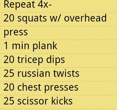 Quick living room strength workout