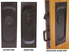 Emtek Products, Inc. - Emtek Solid Brass Mortise Pocket Door Privacy Latch (Oil Rubbed Bronze - Thickness) - The Hardware Hut Pocket Door Lock, Pocket Door Hardware, Polished Brass, Solid Brass, Bedroom Closet Doors, Hollow Core Doors, Mortise Lock, In Case Of Emergency, Brushed Stainless Steel