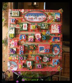 Calendario de adviento scrapbook