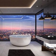 Stunning Home designed by Vantage design group. - Architecture and Home Decor - Bedroom - Bathroom - Kitchen And Living Room Interior Design Decorating Ideas - Dream Bathrooms, Dream Rooms, Master Bathrooms, Luxury Penthouse, Penthouse Suite, New York Penthouse, Bathroom Goals, Small Bathroom, Bathroom Bath