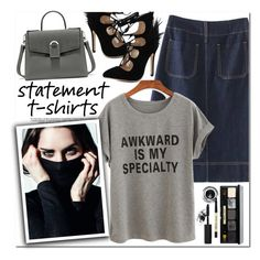 """""""Statement T-Shirts"""" by oshint ❤ liked on Polyvore featuring Bobbi Brown Cosmetics"""