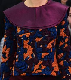 Patterns, Prints, Textures And Surfaces Into F/W 2016/17 Fashion Collections / London 12