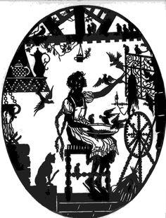 Märchenhaft: Scherenschnitt Fairy Tales - Aschenputtel