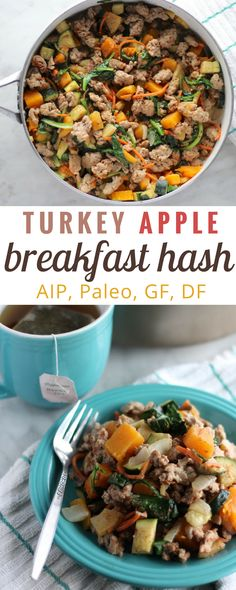 Turkey Apple Breakfast Hash (AIP) - an AIP, paleo hash that is delicious, healthy, and will provide breakfast for the whole week! | fedandfulfilled.com