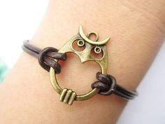 Lovely Owl Wrap Bracelet
