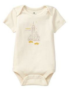 New York City graphic bodysuit | babyGap (I also love the other three -- Paris, London, Italy) :)