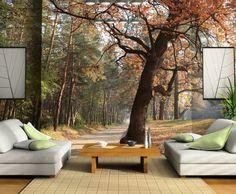 3D Ağaç Doğa Manzara Duvar Kağıdı  #3Boyutlu #Ağaç #Doğa #Manzara #Duvarkağıdı #3D