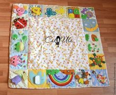 Baby Sewing Projects, Sewing Crafts, Baby Play, Baby Toys, Diy For Kids, Crafts For Kids, Quilt Square Patterns, Fidget Quilt, Activity Mat